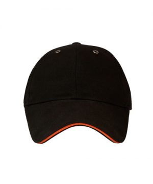 Classic Sandwich Cap Black Orange
