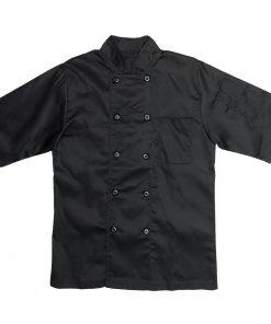 Short Sleeve Chef Jacket Black