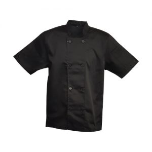 chef jacket double breasted black