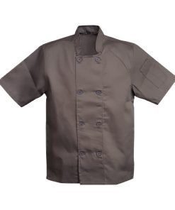 chef jacket double breasted charcoal