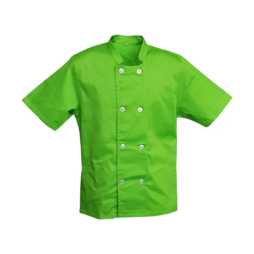chef jacket double breasted green