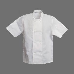 chef jacket double breasted white