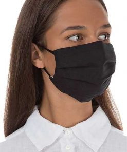 pleated fabric mask