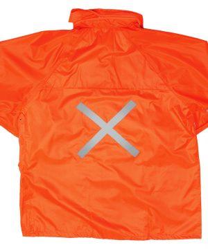 Hi-Vis Polyester PVC Rain Suit JACKET_ORANGE_BACK