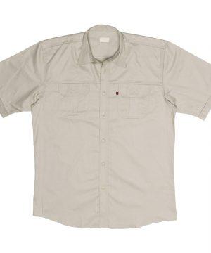 Plain Bush Shirt STONE