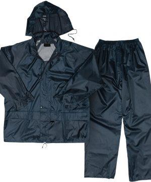 Polyester PVC Rain Suit NAVY-BLUE