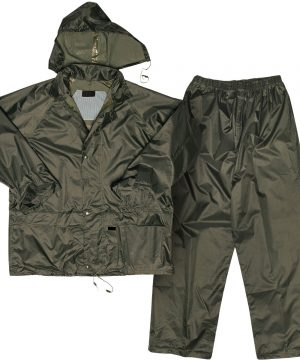 Polyester PVC Rain Suit OLIVE-GREEN