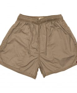 100% Cotton Rugby Shorts Khaki