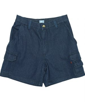 Elasticated Denim Cargo Shorts