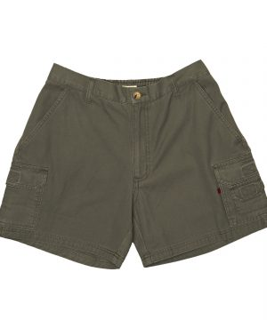 Elasticated Cargo Shorts Olive