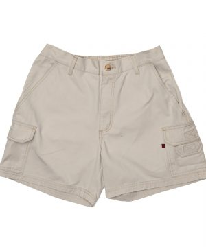 Elasticated Cargo Shorts Stone