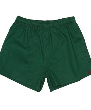 J54 Cotton Rugby Shorts bottle green