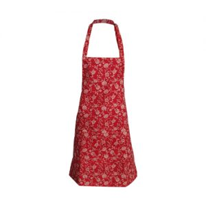 kitchen apron red floral