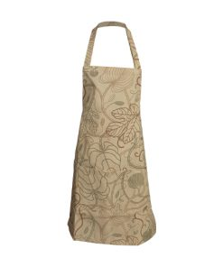 kitchen apron beige flower